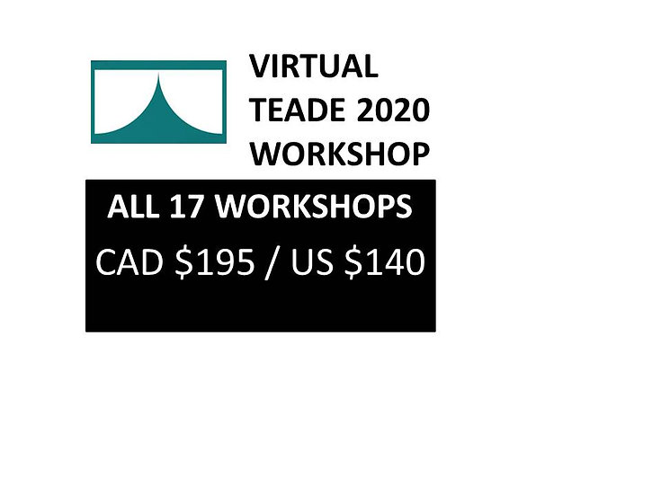 ALL WORKSHOPS/ Talleres - PACKAGE OF 17