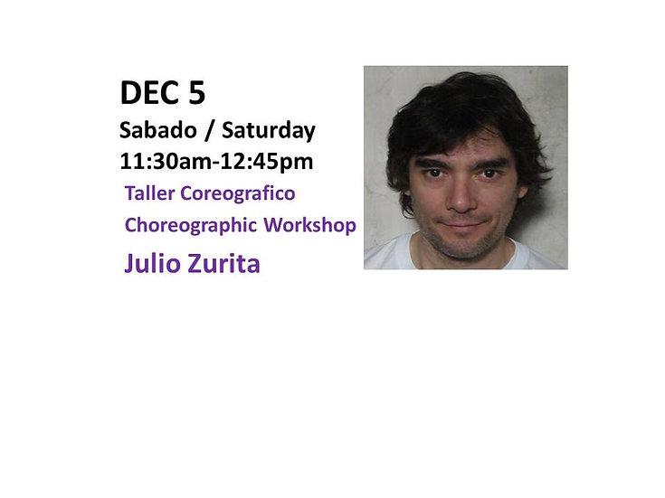 Dec 5 - Taller Coreografico Choreographic Workshop