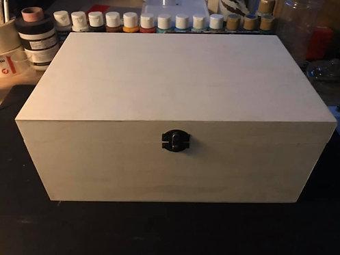 Medium hand painted wooden box
