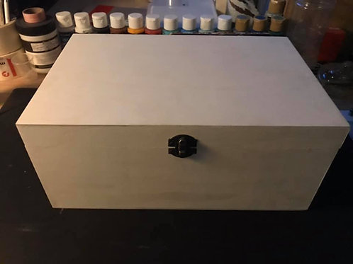 Extra large hand painted wooden box
