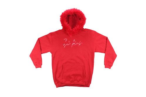 Red Fur Pullover Hoodie
