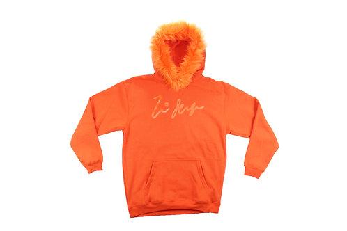 Orange Fur Pullover Longsleeve