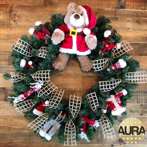 Santa Bear Wreath
