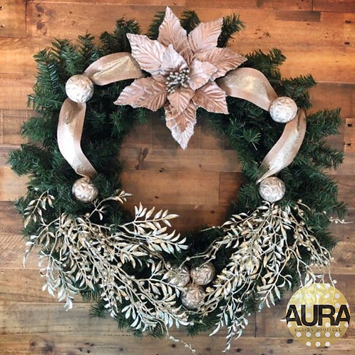 Pewter Floral Wreath
