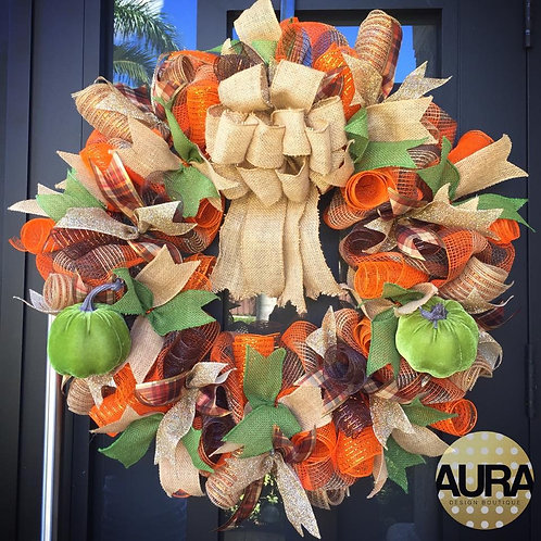 Custom Autumn Wreath