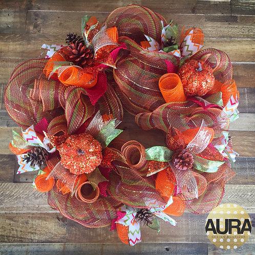 Custom Pumpkin Fall Wreath