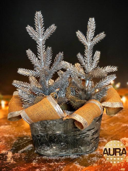 Birchwood Holiday Silver Centerpiece