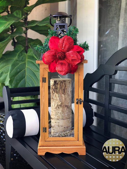 Rustic Wooden Holiday Lantern