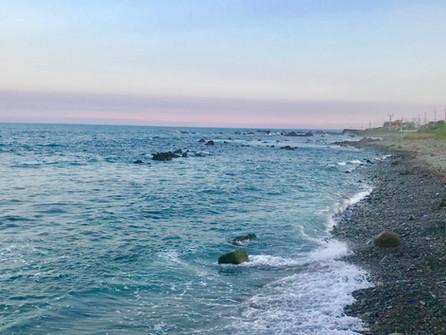 日暮れの平磯海岸