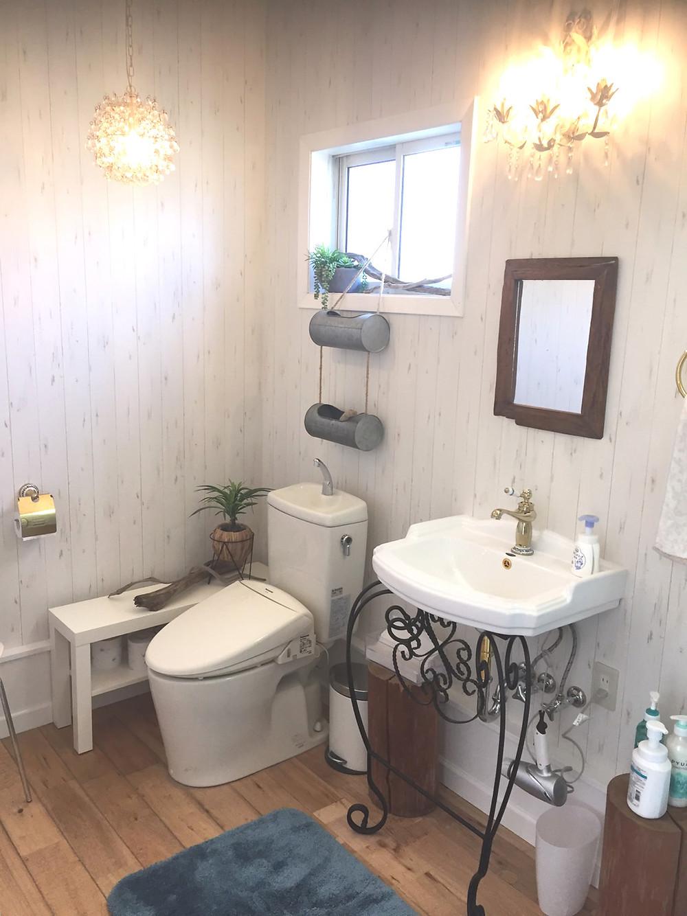 ひらいその洗面所改修工事が完了しました!