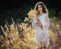 Séance portrait dans les champs
