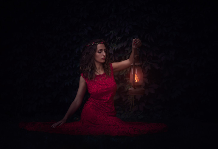 Portrait à la lanterne