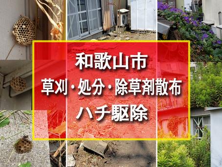 和歌山市 草刈・処分・除草剤散布・ハチ駆除