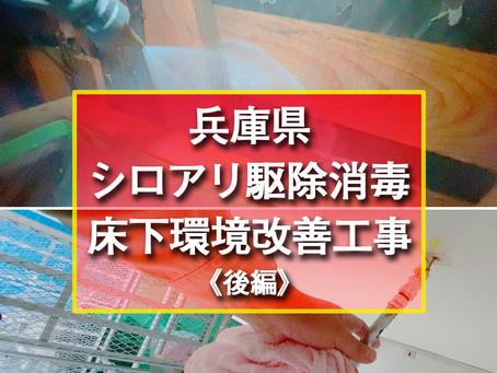 兵庫県 シロアリ駆除消毒・床下環境改善工事《後編》