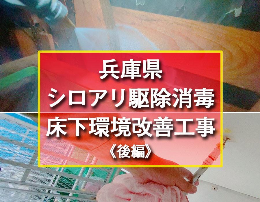 便利屋和歌山 兵庫県 シロアリ駆除消毒・床下環境改善工事《後編》