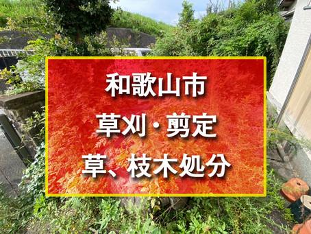和歌山市 草刈・剪定・草、枝木処分