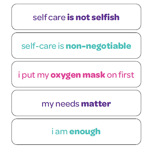 Affirmation Stickers: General Self-Care Edition