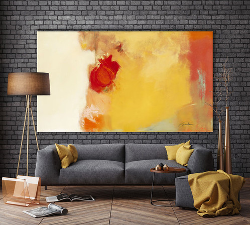 Red Note | Big Wall Art on Canvas | GIANT ART