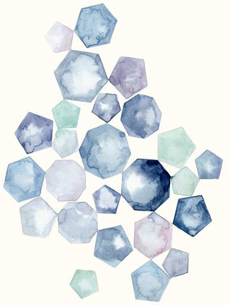 Watercolor Hexagons B