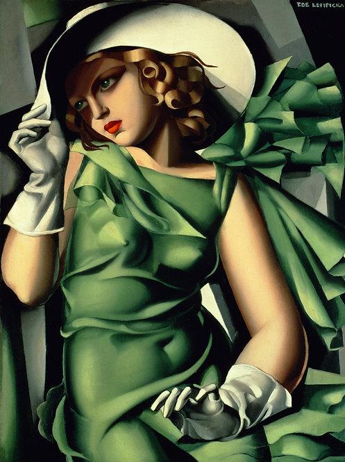 lempicka young lady green