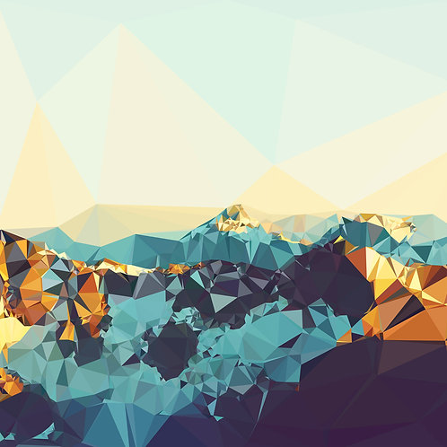 Fractal Mountain Sunset