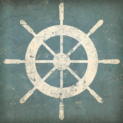 Nautical Shipwheel Blue