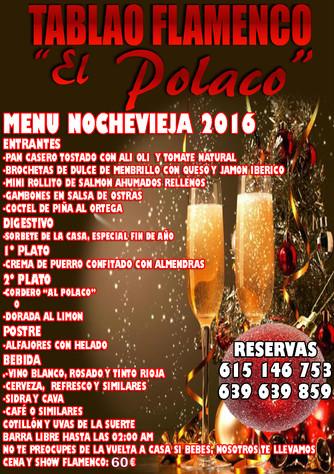 Noche Vieja Tablao Flamenco El Polaco