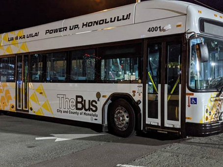 Honolulu's TheBus Unveils First Electric Bus