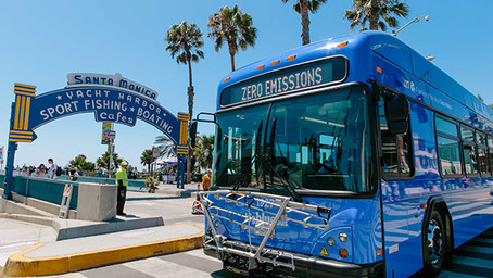 City of Santa Monica's Big Blue Bus Rolled Out Its First-Ever Battery Electric Bus