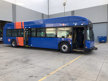TriMet brings new type of electric bus to the road toward a clean energy bus fleet