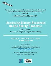 Educational Talk 29 Diane Li   01222021.