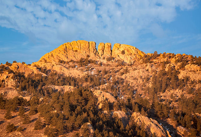 Horsetooth rock formation  at sunrise is