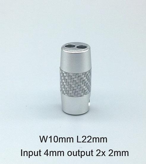 carbon fibre silver small
