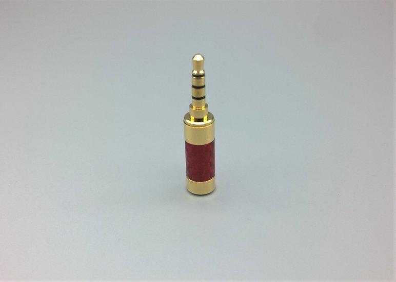3.5mm TRRS jack carbon fibre red