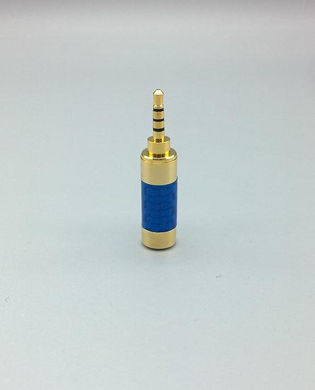 2.5mm TRRS jack blue