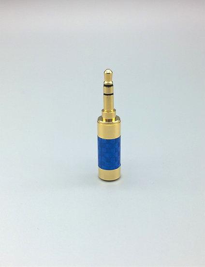 3.5mm stereo jack blue carbon fibre