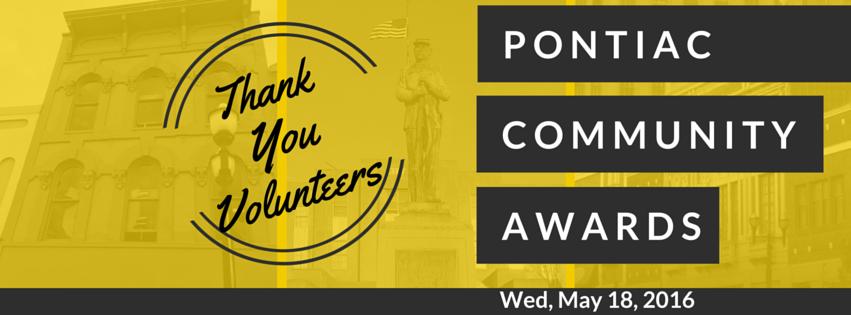 Thank you for Nominating - Pontiac Community Awards