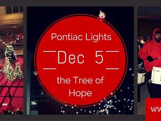 Pontiac Lights the Tree of Hope