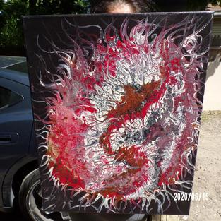 Dragon (abstract), Patricia Harker