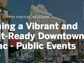 April 15-17; Visioning a Vibrant and Transit-Ready Downtown Pontiac
