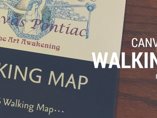 Canvas Pontiac Walking Map - 2016