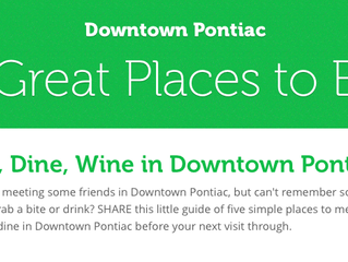 Six GREAT Places to Eat in Downtown Pontiac