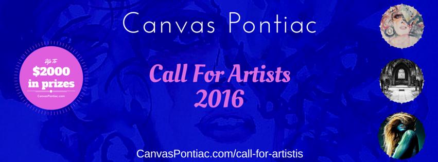 Canvas Pontiac - Call For Artists, 2016