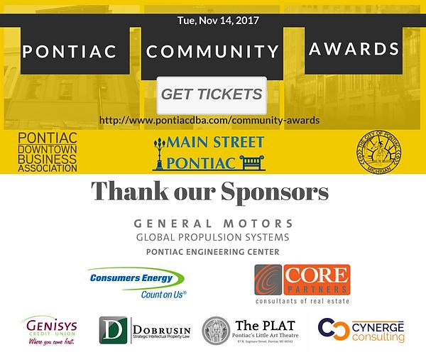 Pontiac Community Awards Sponsors