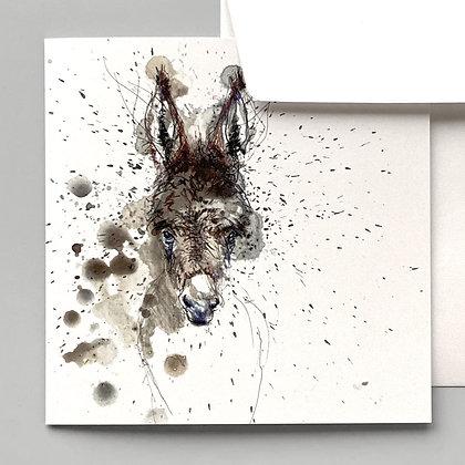 GRUSSKARTE Esel – 2 Karten pro Set