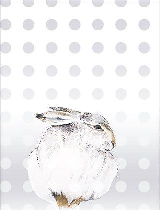 Kopie von GRUSSKARTE Hase – 2 Karten pro Set