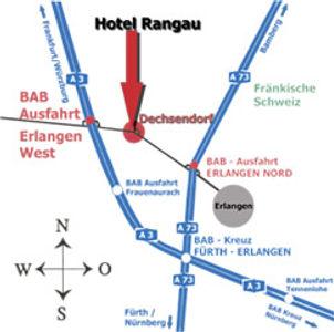 Anfahrt Hotel Gasthof Rangau Erlangen
