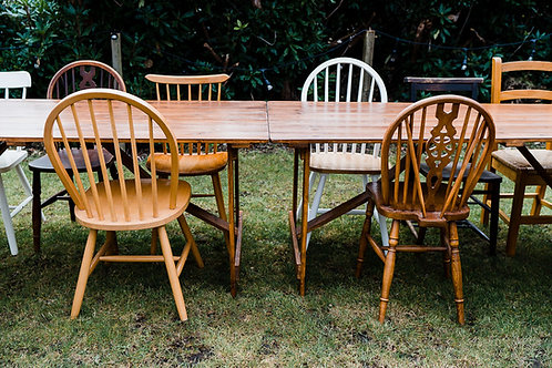 Mis matched wooden chairs