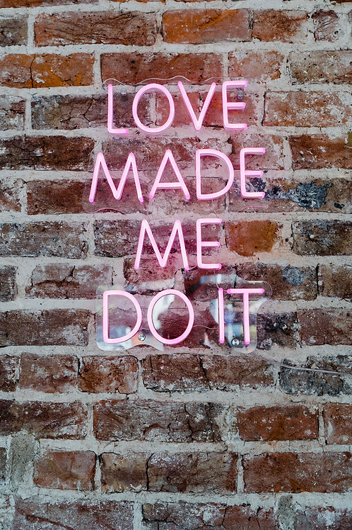 Pink LED 'neon' sign