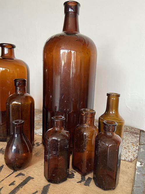 Large Brown Bottles
